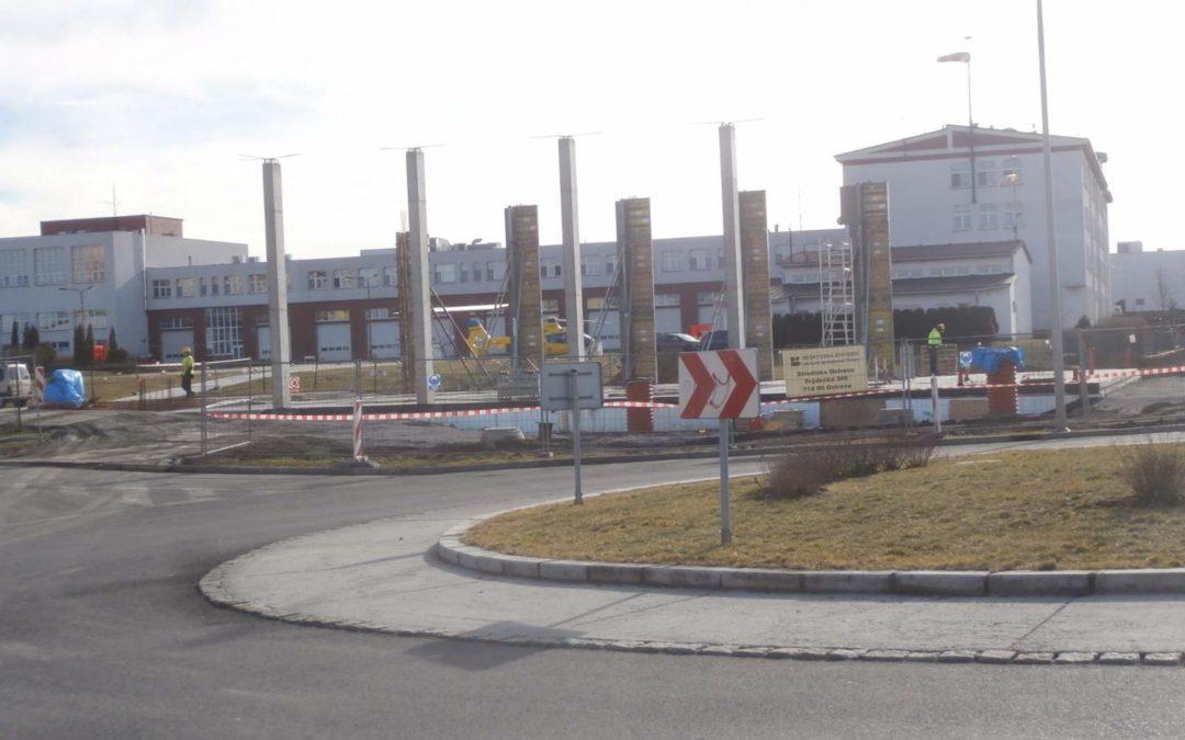 Výstavba vrtulníkového hangáru v areálu HZS MSK
