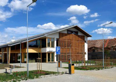 Novostavba kulturního domu v Drnholci